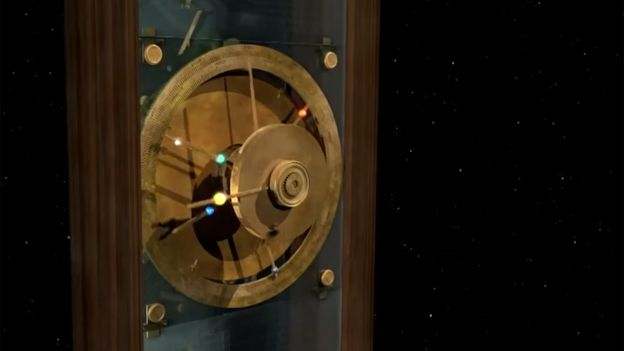 mecanismo de Anticitera cara planetario