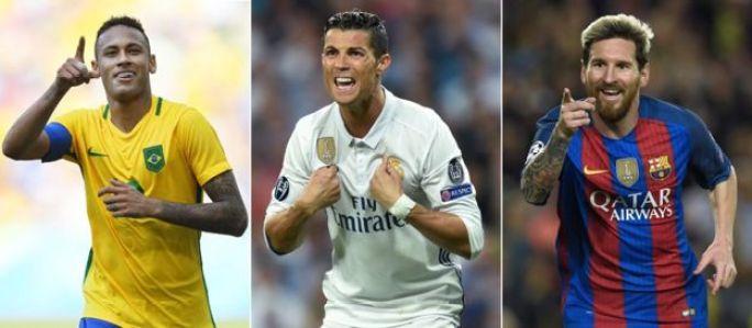 Neymar, Ronaldo y Messi