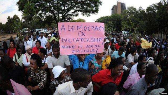 Protesta en Gaborone, Botswana