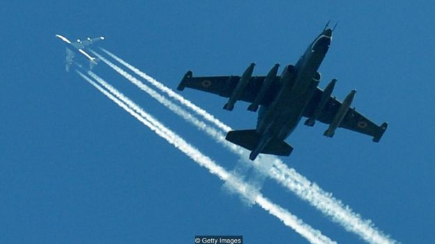 The Soviet-era Sukhoi Su-25 jet was an updated Sturmovik - and still serves in many air forces (Credit: Getty Images)