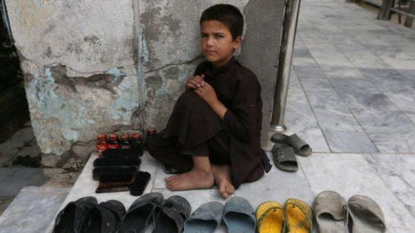 Niño afgano