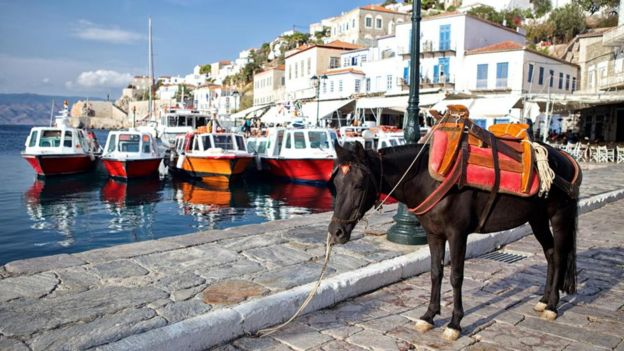 Besides your own two feet, horses and mules are the de facto transport on the Greek isle of Hydra, where cars and motorcycles are prohibited.
