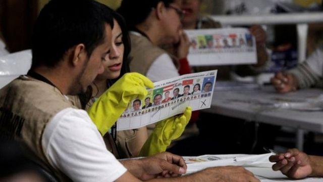 Escrutinio de votos en Honduras