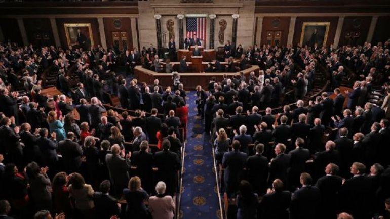 Macron ante el Congreso.