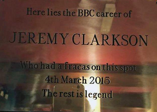 Jeremy Clarkson plaque