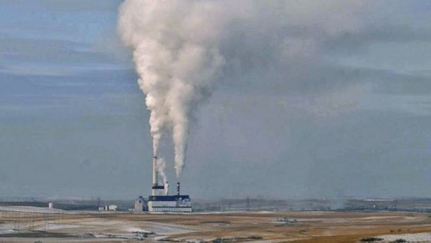 The coal-fired Milton Young Power Plant near Center, North Dakota (file picture)