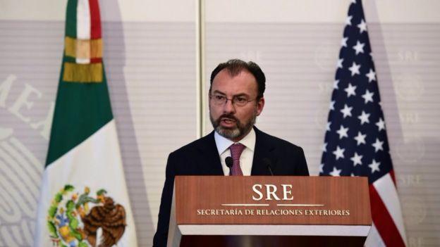 El canciller Luis Videgaray plantea revisar la colaboración de México en seguridad con Estados Unidos