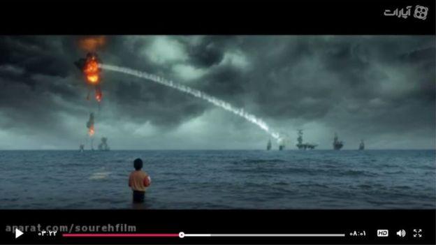 Missile hitting plane
