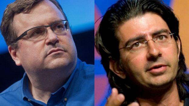 Reid Hoffman y Pierre Omidyar,