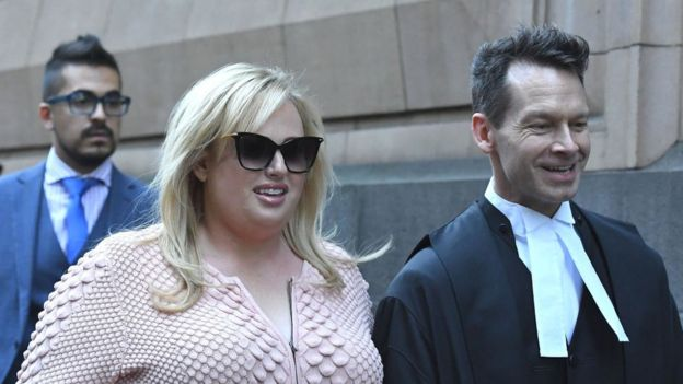 Rebel Wilson leaves the Supreme Court