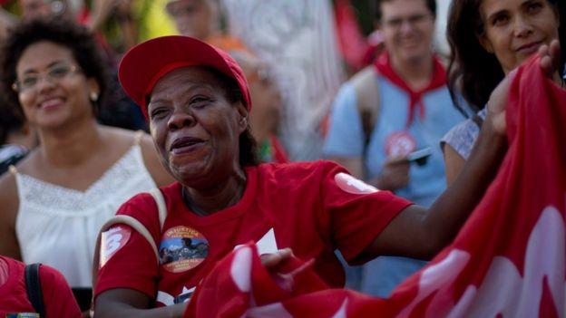 Pro-government protester in Rio de Janeiro