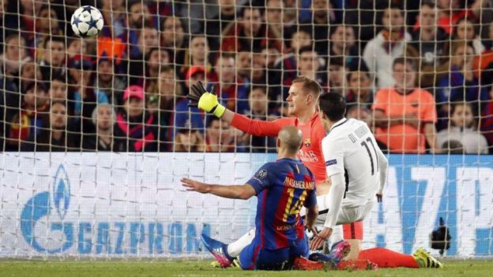 Una de las jugadas polémicas entre Mascherano y Di María