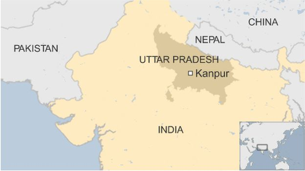India Kanpur map
