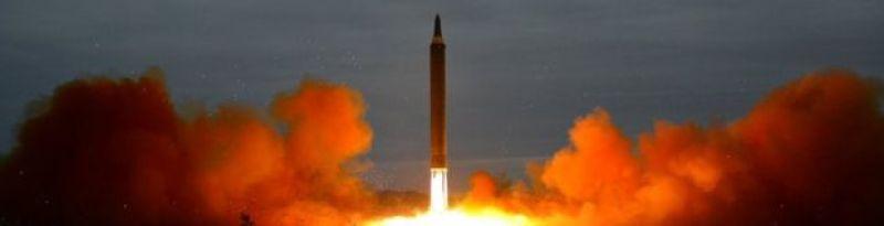 Míssil norte-coreano lançado em 2017