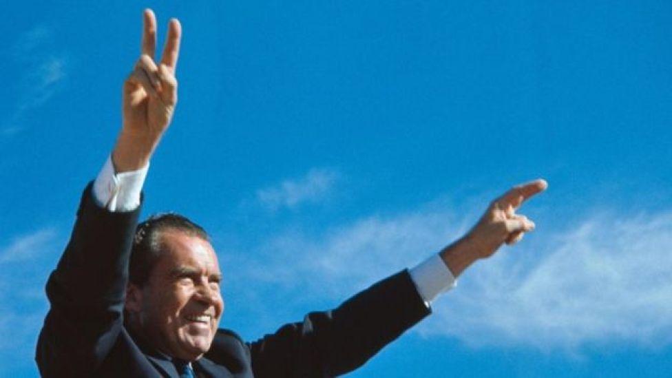 الرئيس الأمريكي ريتشارد نيكسون