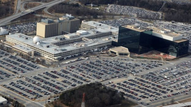 An aerial view shows the National Security Agency (NSA) headquarters in Ft. Meade, Maryland, US on 29 January, 2010.