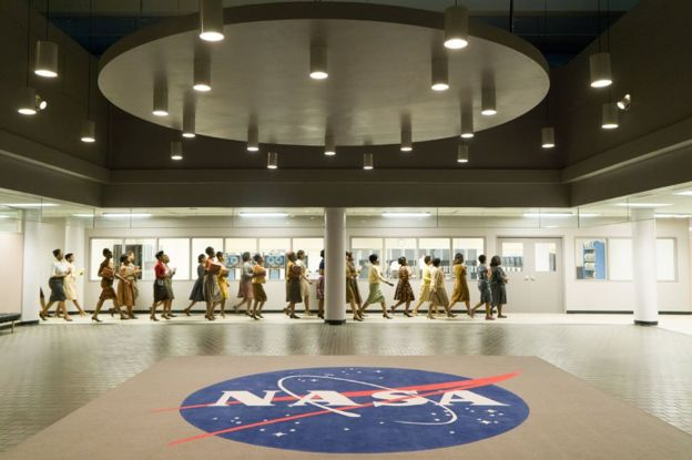 Black women at Langley, in the film Hidden Figures