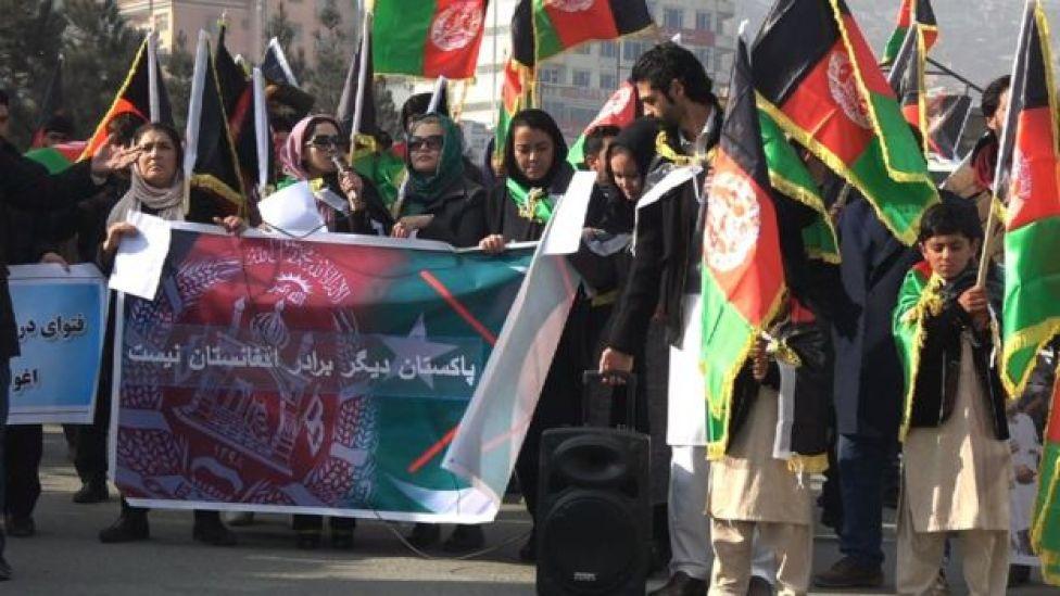 مظاهره کنندگان در کابل