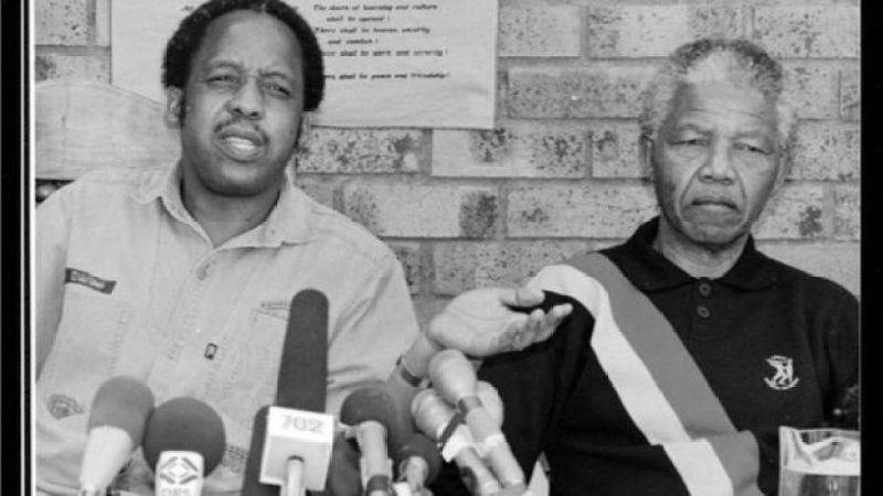 Chris Hani with Nelson Mandela