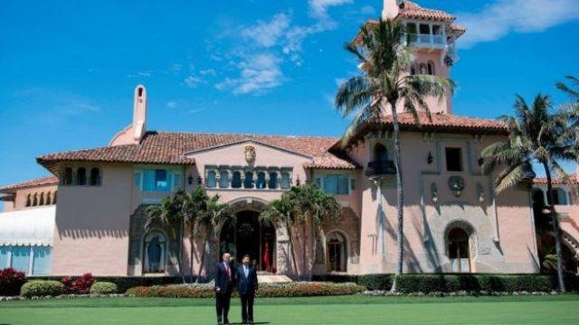 Trump y el presidente chino en Mar-a-Lago.