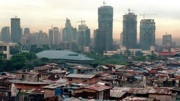 Un barrio pobre en Filipinas