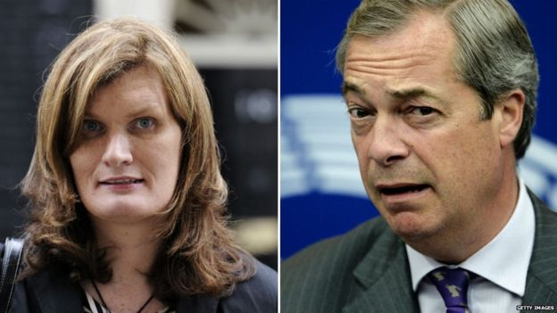Nikki Sinclaire, Nigel Farage