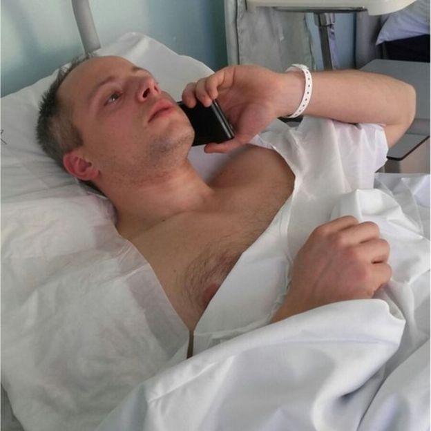 Cristian Movio no hospital