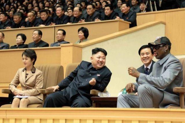 Kim Jong-un con Dennis Rodman.