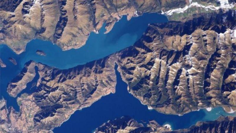 Nouvelle-Zélande vue aérienne