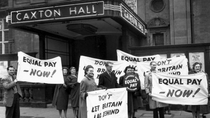 Protesta por la igualdad salarial en Reino Unido, 1954