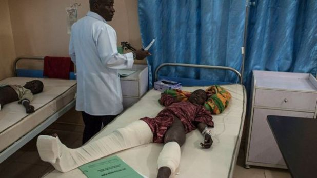 Child patient in hospital in Maiduguri