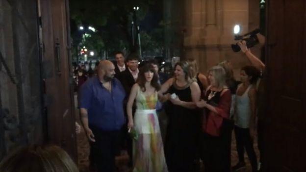 Mercedes Ortíz cuando se abrieron las puertas de la iglesia