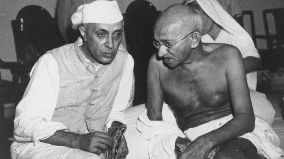 जवाहर लाल नेहरू- महात्मा गांधी