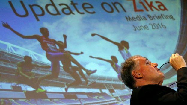 Conferencia de prensa sobre el zika de cara a los juegos olímpicos de Rio de Janeiro