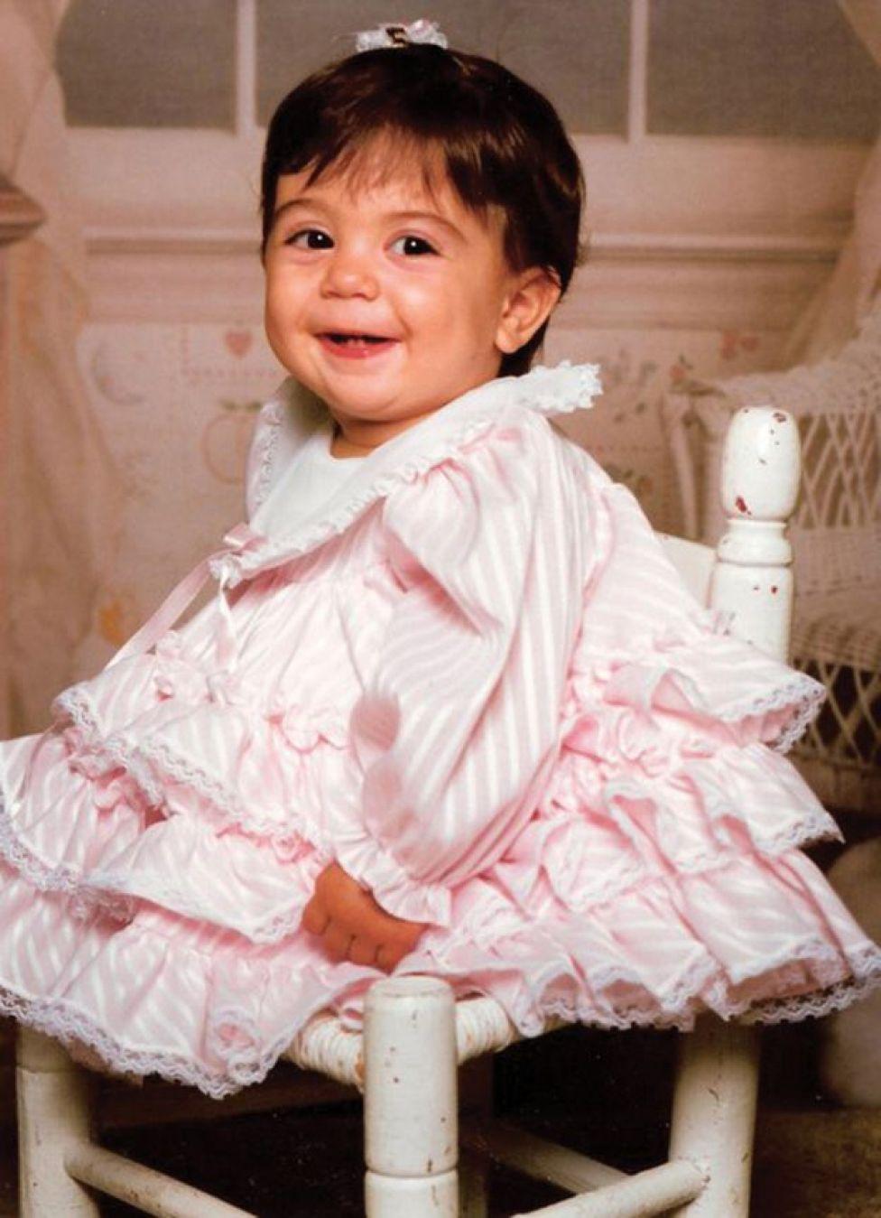 Jennifer Bricker com 1 ano de idade