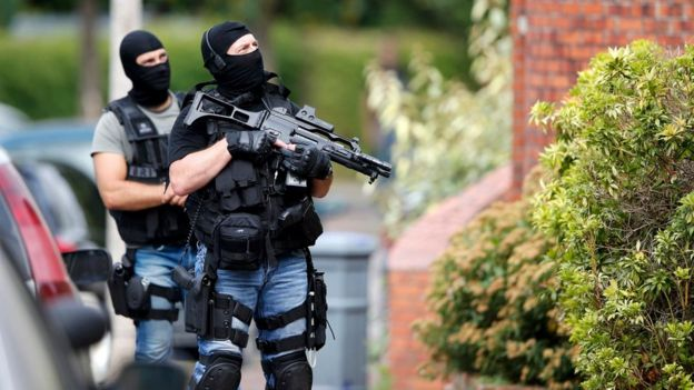 Special forces raid a house in Saint-Etienne-du-Rouvray on 26 July 2016
