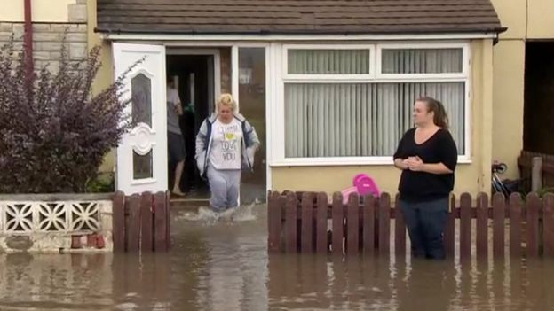 Heavy flooding in Wirral