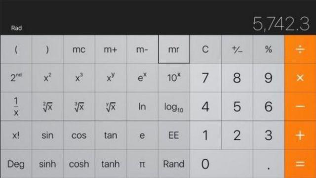 Calculadora científica iPhone
