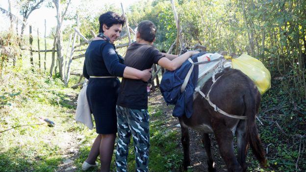 Liljana Luani con Niko