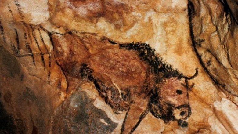 Pintura de caverna pré-histórica encontrada no País Basco