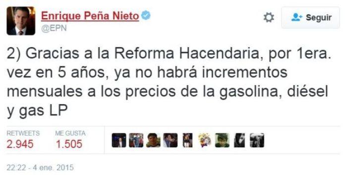 Peña Nieto anunciaba el fin de los