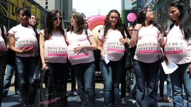 Campanha de prevenção à gravidez na adolescência