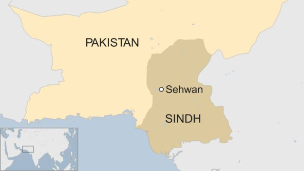 Map of Sindh in Pakistan