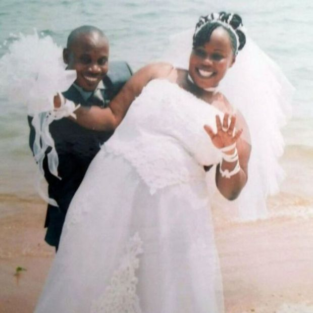 A wedding photo (Balenga Kalala and Noela Rukundo)