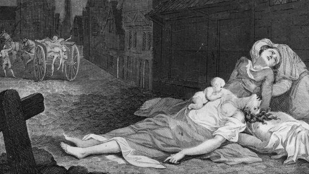 Víctimas de la peste en 1663