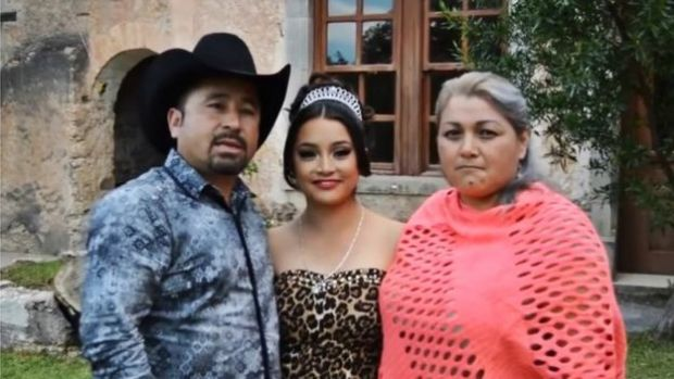 Still taken from a video showing the Ibarra family inviting people to Rubi's birthday party