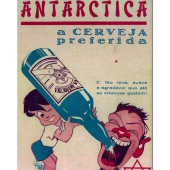 Cartaz produzido pela Antarctica