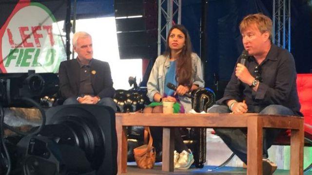 John McDonnell, Faiza Shaheen and John Harris