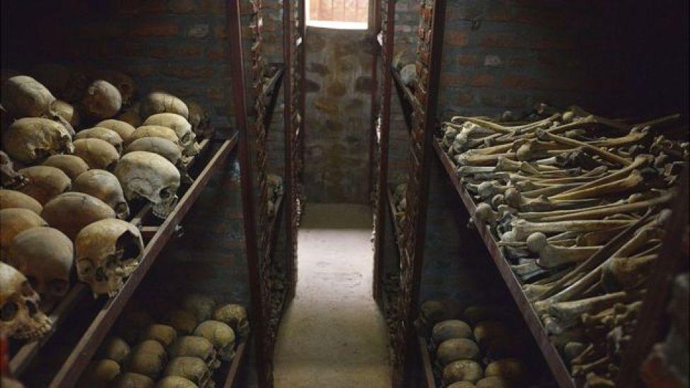 Human remains in Nyamata church, 2014