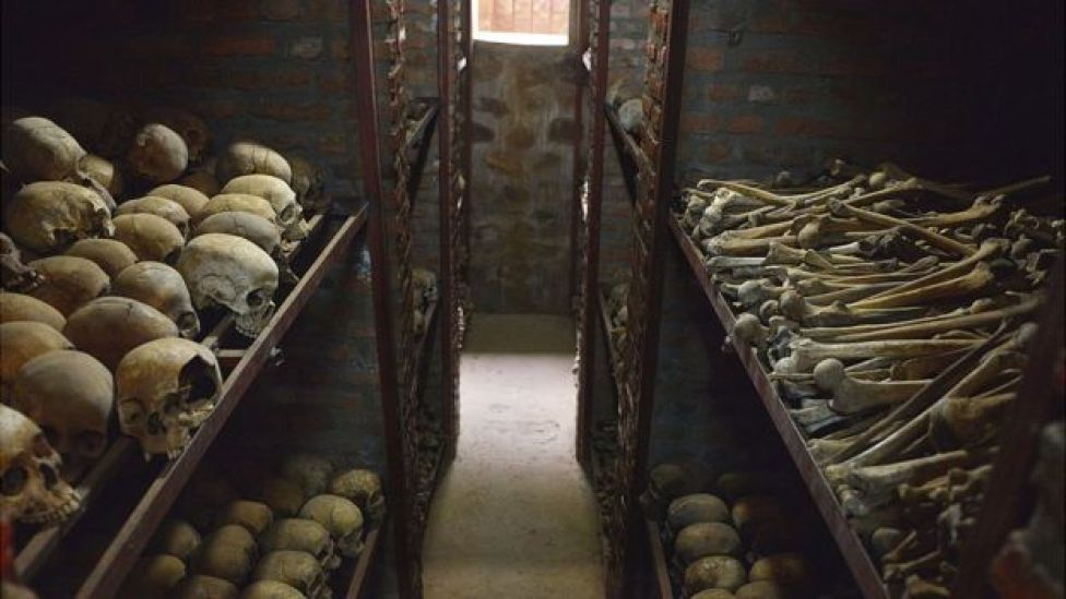 Human remains in Nyamata church, 2014